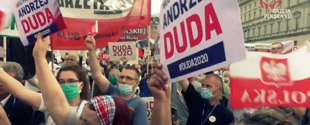 """Kluby """"GP"""" mają Polskę na sercu. Manifestacja poparcia Andrzeja Dudy za nami (wideo)"""