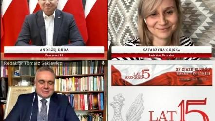 """Zjazd-ONLINE Prezydent Duda na zjeździe Klubów """"GP"""": Te wybory rozstrzygną, jaka będzie Polska"""