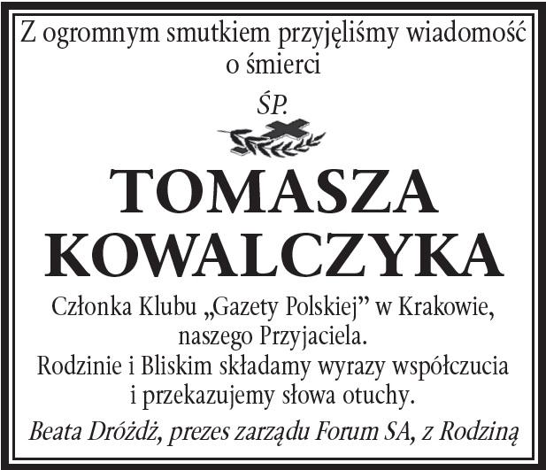 Kondolencje sp T Kowalczyk2
