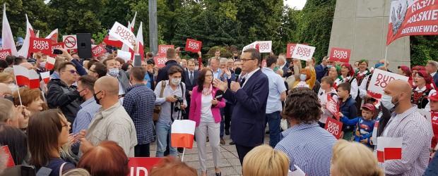 DUDA 2020|Premier Mateusz Morawiecki w Piotrkowie Trybunalskim