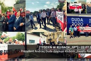 """[Tydzień w Klubach """"GP""""] Prezydent Andrzej Duda dziękuje Klubom """"Gazety Polskiej"""""""