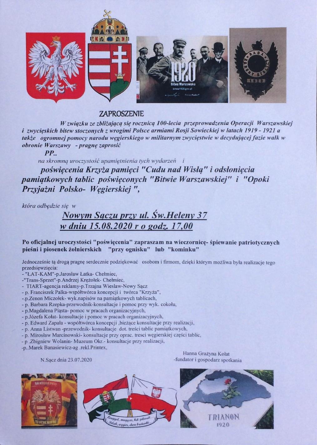 Nowy Sacz pomnik2020