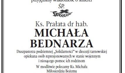 Tarnów: Żegnamy śp. Ks. Prałata dr hab. Michała Bednarza