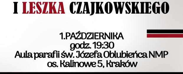 KRAKÓW | Zaproszenie na koncert pieśni patriotycznych Pawła Piekarczyka i Leszka Czajkowskiego. 1 października godz. 19:30