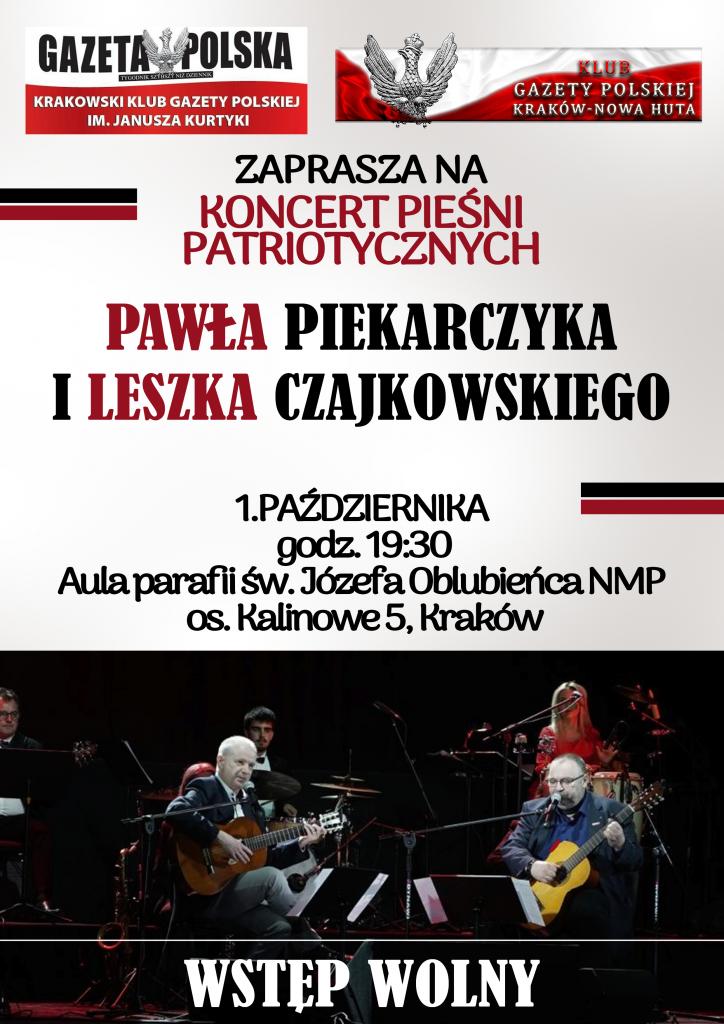 Plakat Koncert Paweł Piekarczyk