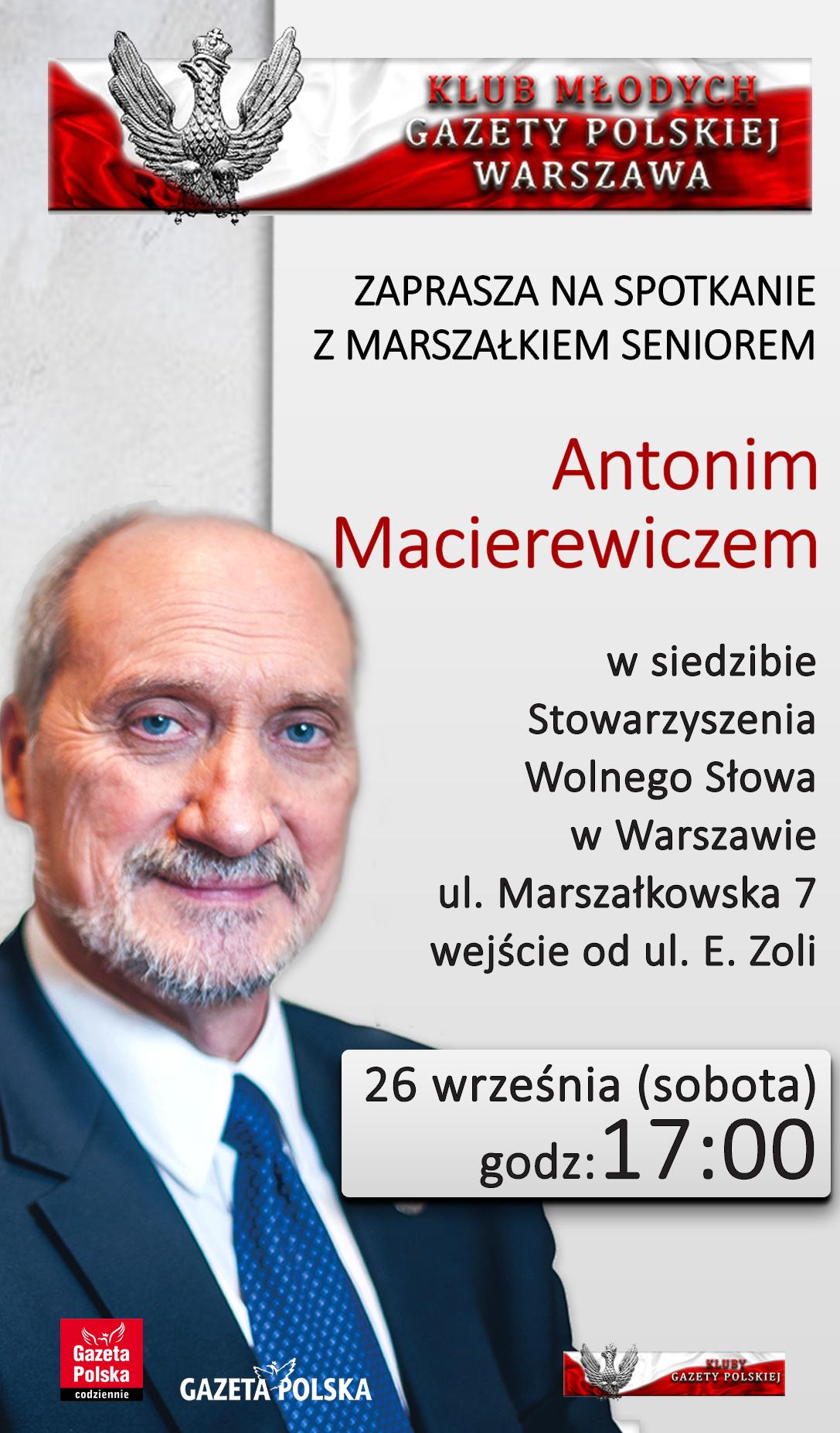 Warszawa Klub Mlodych - Macierewicz 2020