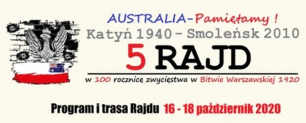 SYDNEY | 5 Rajd Katyń 1940 – Smoleńsk 2010 w 100 rocznicę zwycięstwa w Bitwie Warszawskiej 1920. Australia – Pamiętamy!
