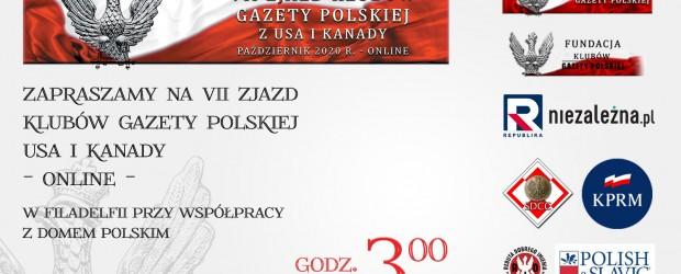 Zapraszamy na VII Zjazd Klubów Gazety Polskiej USA i Kanady – online w Filadelfii przy współpracy z DOMEM POLSKIM