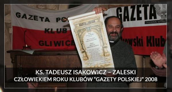 2008 Człowiek Roku - Ks. Tadeusz Isakowicz Zalewski