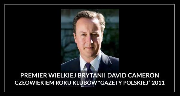 Człowiek Roku 2011 David Cameron