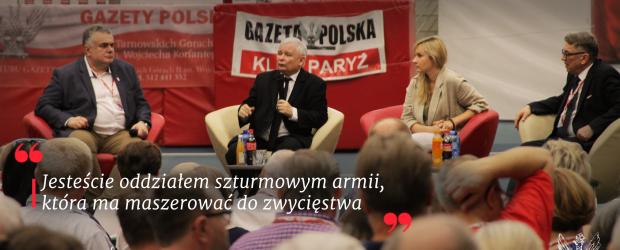 """Prezes Jarosław Kaczyński o Klubach """"Gazety Polskiej"""""""