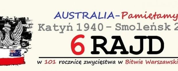 SYDNEY | ZAPROSZENIE 6 Rajd Katyń 1940-Smoleńsk 2010. Australia – Pamiętamy | 23-25 kwietnia