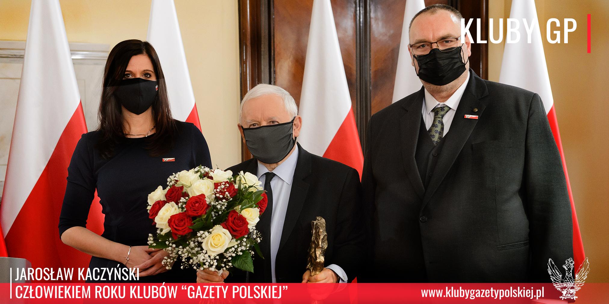 """Jarosław Kaczyński - Człowiek Roku Klubów """"Gazety Polskiej"""""""