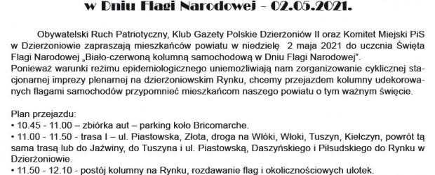 DZIERŻONIÓW II | Zaproszenie Dzień Flagi Rzeczypospolitej Polskiej – 2.05.