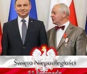 ŁOWICZ | Medal 100 -lecie Odzyskania Niepodległości dla Przewodniczącego Wojciecha Gędek