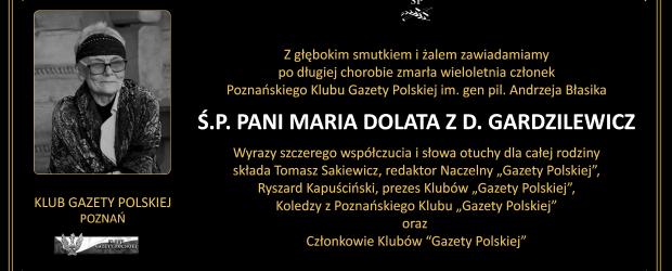 POZNAŃ | Z głębokim smutkiem i żalem zawiadamiamy o śmierci ŚP. MARIA DOLATA