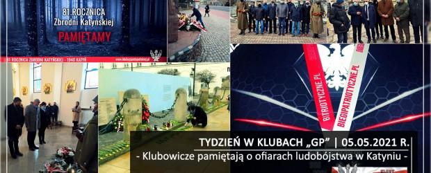 """TYDZIEŃ W KLUBACH """"GP"""" I Klubowicze pamiętają o ofiarach ludobójstwa w Katyniu"""