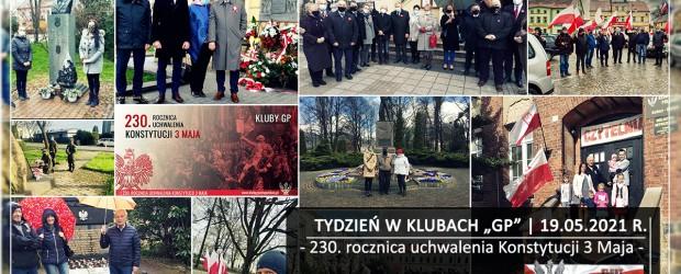 """TYDZIEŃ W KLUBACH """"GP"""" I 230. rocznica uchwalenia Konstytucji 3 Maja"""