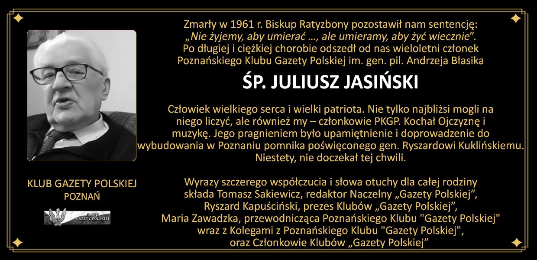 Nekrolog_Poznań- Juliusz Jasiński