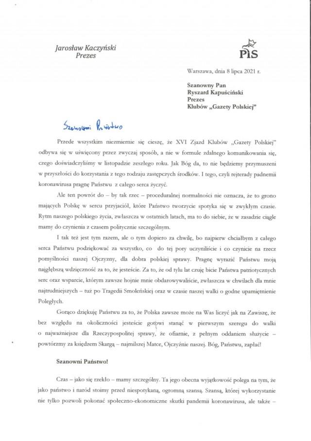 Kaczyński List_1