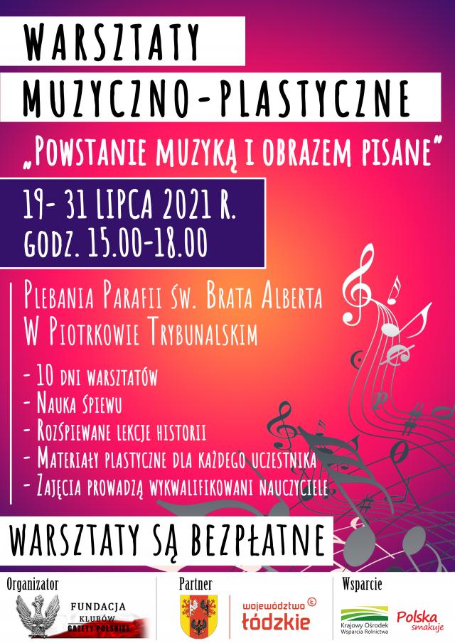 Plakat - Warsztaty muzyczno-plastyczne