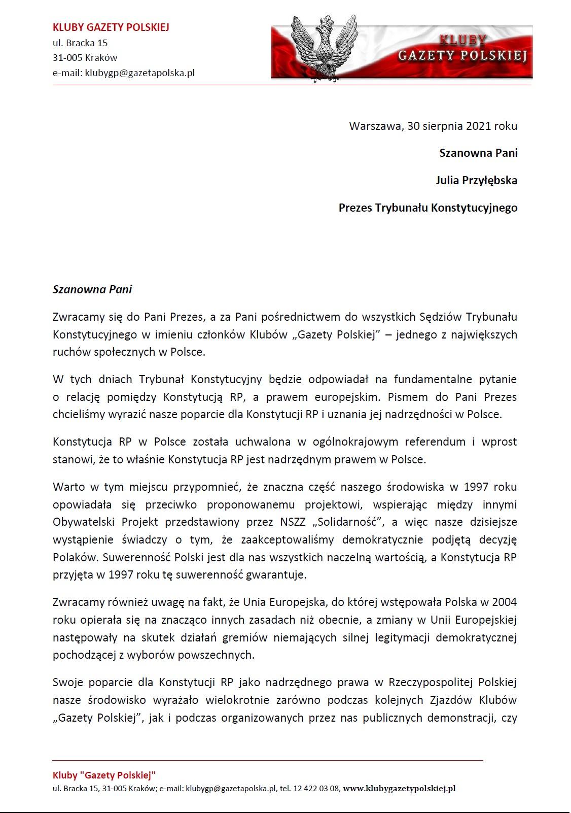 PISMO I Prezes J.Przylebska