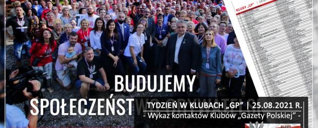 """TYDZIEŃ W KLUBACH """"GP"""" Wykaz kontaktów Klubów """"Gazety Polskiej"""""""