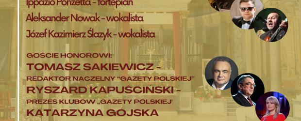 RZYM | Zaproszenie na Międzynarodowy Koncert na otwarcie Klubu Gazety Polskiej w Rzymie | 28.09 godz. 19:00