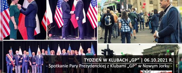 """TYDZIEŃ W KLUBACH """"GP"""" Spotkanie Pary Prezydenckiej z Klubami """"GP""""  w Nowym Jorku"""