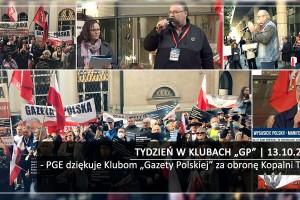 """TYDZIEŃ W KLUBACH """"GP"""" PGE dziękuje Klubom """"Gazety Polskiej"""" za obronę Kopalni Turów"""