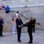 Pierwszy dzień Rajdu, 23.04.21, War Memorial, Canberra, wieniec składa Ambasador RP Pan Michal Kolodziejski.
